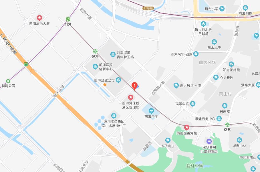 前海e站通地图